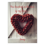 Heart of flowers card