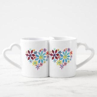 Heart of Flowers Coffee Mug Set
