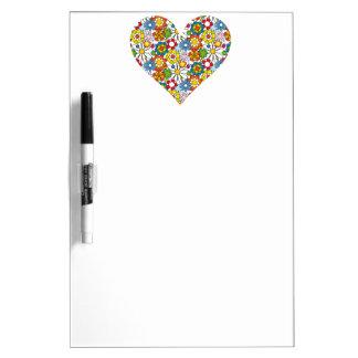 Heart OF Flowers Dry-Erase Board