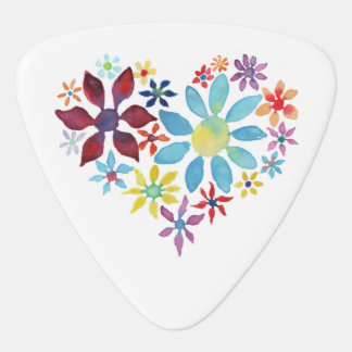 Heart of Flowers Guitar Pick