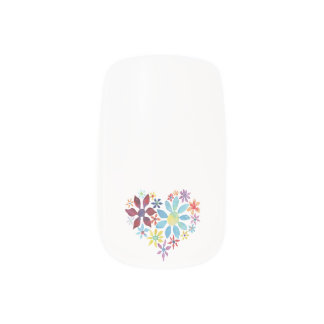 Heart of Flowers Minx® Nail Art
