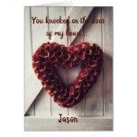 Heart of flowers personalised card