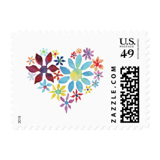 Heart of Flowers Postage