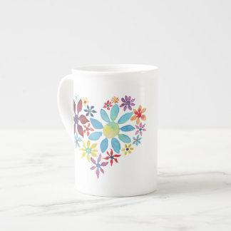 Heart of Flowers Tea Cup
