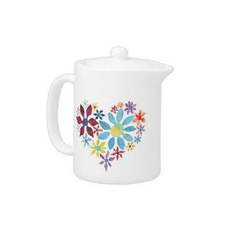 Heart of Flowers Teapot