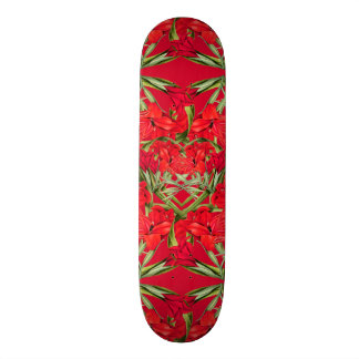 Heart of Gladiola Flowers Floral Skateboard