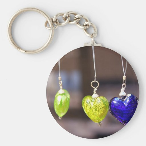 Heart of glass key chains