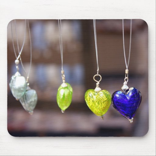 Heart of glass mousemats
