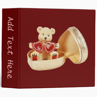 Heart of Gold 3 Ring Binder