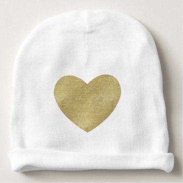 Valentines Themed Heart of Gold Baby Beanie
