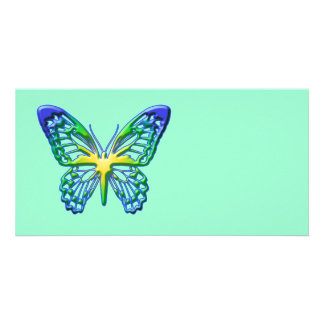 Heart of Gold Butterfly Custom Photo Card