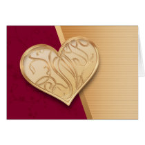 love, passion, feelings, emotions, emotive, heart, couple, relation, infatuation, engravings, golden, gold, stripes, classic, best, selling, seller, best selling, creative, unique, Card with custom graphic design