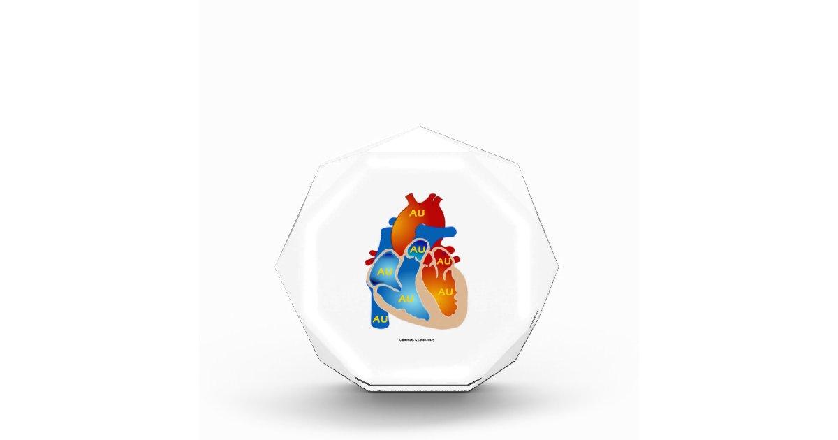 Heart Of Gold Chemical Symbol Au Acrylic Award Zazzle