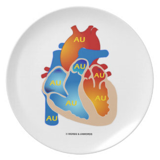 Heart Of Gold (Chemical Symbol AU) Dinner Plate