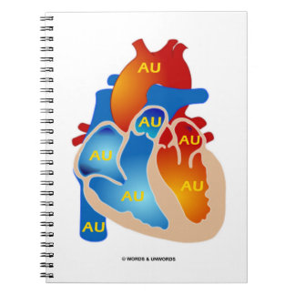 Heart Of Gold (Chemical Symbol AU) Notebook