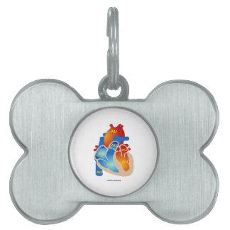 Heart Of Gold (Chemical Symbol AU) Pet Name Tag