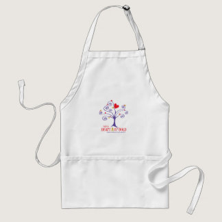 Heart of Gold for childhood cancer Adult Apron