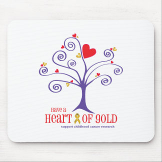 Heart of Gold for childhood cancer Mouse Pad