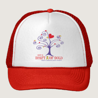Heart of Gold for childhood cancer Trucker Hat