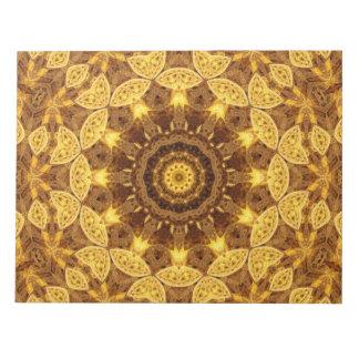 Heart of Gold Mandala Notepad
