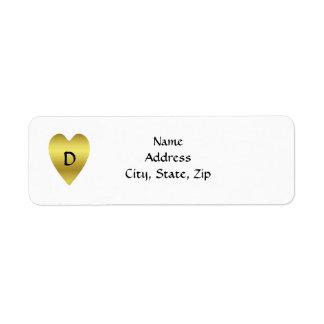 Heart of Gold, monogram D Label