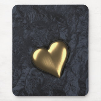 Heart of Gold Mouse Pad