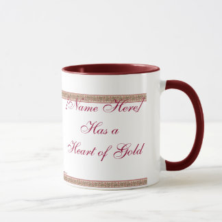 Heart of Gold Personalized Mug