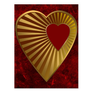 Heart Of Gold Post Cards