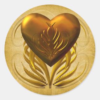 Heart of Gold Round Sticker