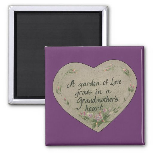 Heart of Grandmother 2 Inch Square Magnet