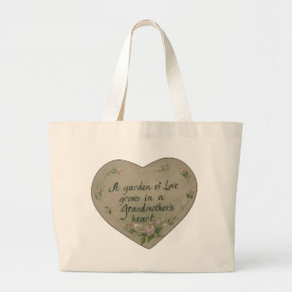Heart of Grandmother Large Tote Bag