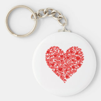 Heart of hearts basic round button keychain