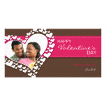 Heart of Hearts (Brown/Hot Pink) Custom Photo Card