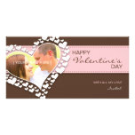 Heart of Hearts (Brown/Pink) Photo Card Template