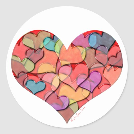 Heart of Hearts Classic Round Sticker