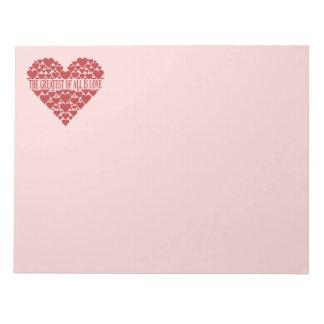 Heart of Hearts custom notepad