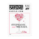 Heart of Hearts Love in a Martini Glass w Names Stamps