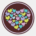 Heart of Hearts Love Sticker in Pretty Purples