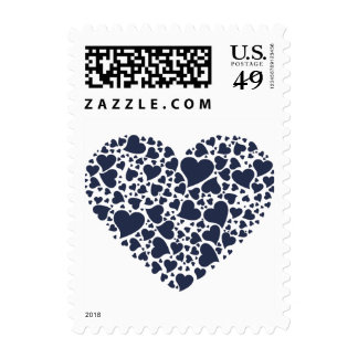 Heart of Hearts - Navy Blue Postage