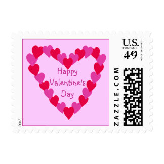 Heart of Hearts Red Pink Happy Valentine's Stamps