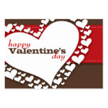 Heart of Hearts School Valentines (Brn/Red) Large Business Cards (Pack Of 100)