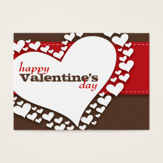 Heart of Hearts School Valentines (Brn/Red) Business Card