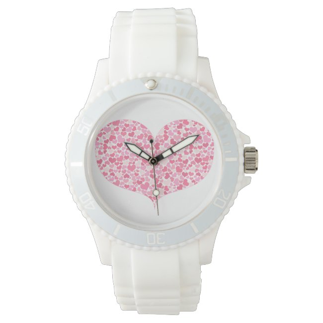 Heart of Hearts - Sporty White Silicon Watch