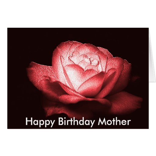heart of ice rose 2, Happy Birthday Mother Greeting Card