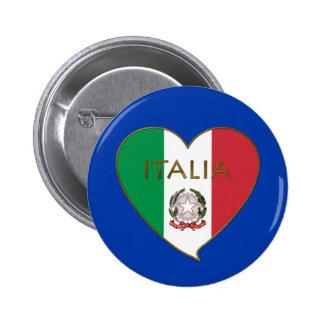 Heart of ITALY flag tricolor ITALY SOUVENIR Pins