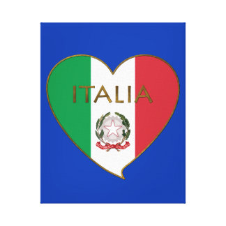 Heart of ITALY flag tricolor ITALY SOUVENIR Gallery Wrapped Canvas