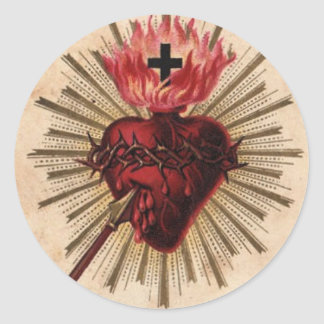 Heart of Jesus (small) Round Stickers