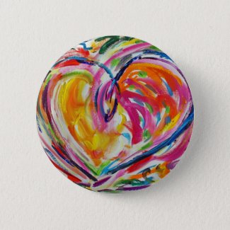 Heart of Joy Button or Pin