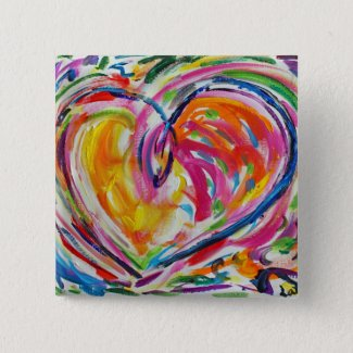 Heart of Joy Buttons or Pins