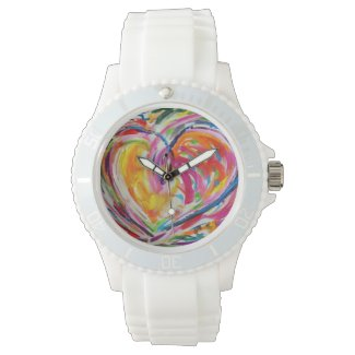 Heart of Joy Colorful Art Custom Watch Design